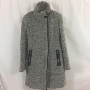 Calvin Klein Wool Coat Stand Collar Size M